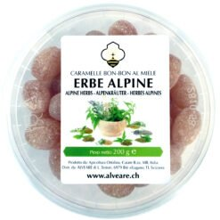 Bon-Bon with alpine herbs, filled with honey