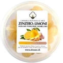 Bon-Bon mit Ingwer und Zitrone, gefüllt mit Honig