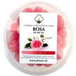 Bon-Bon mit Rose, gefüllt mit Honig